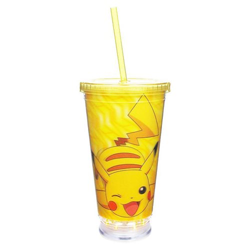Pokemon Pikachu Yellow 3-D Light-Up Travel Cup
