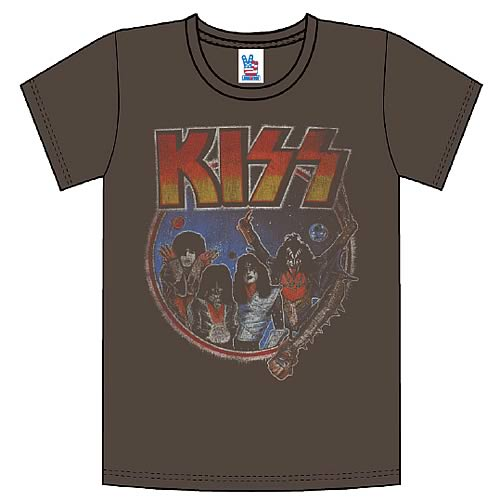 kiss vintage style t shirt junk food clothing kiss t. Black Bedroom Furniture Sets. Home Design Ideas