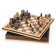 Animal Chessmen with 20-Inch Chessboard