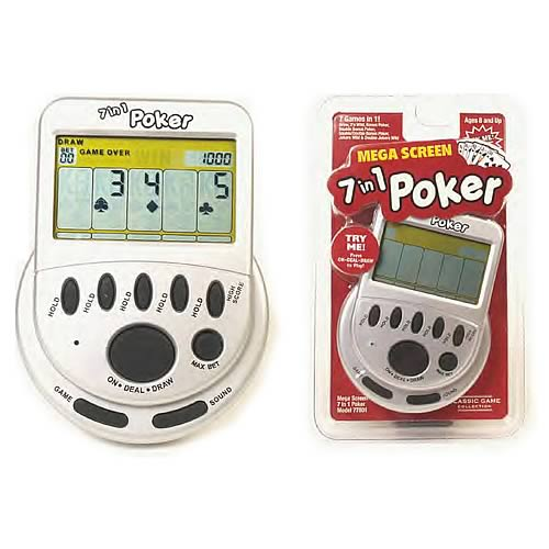 Mega Screen 7-in-1 Poker Electronic Game