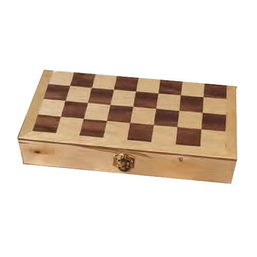 Chess Set Wood Version With 2 1/2-Inch King