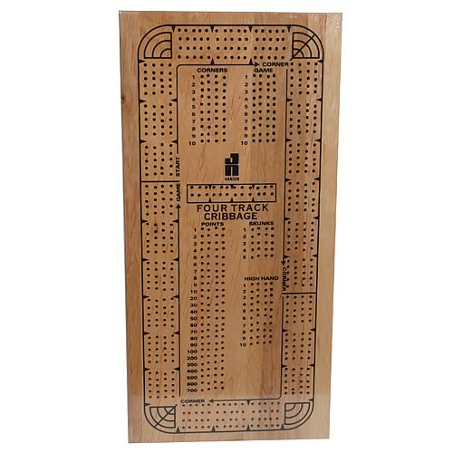 Cribbage Board 4-Track Continuous Version