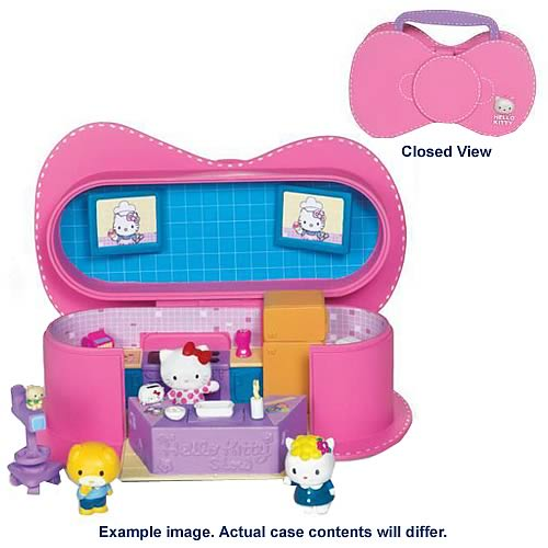 Hello Kitty Purse Playset with Mini Figures Set