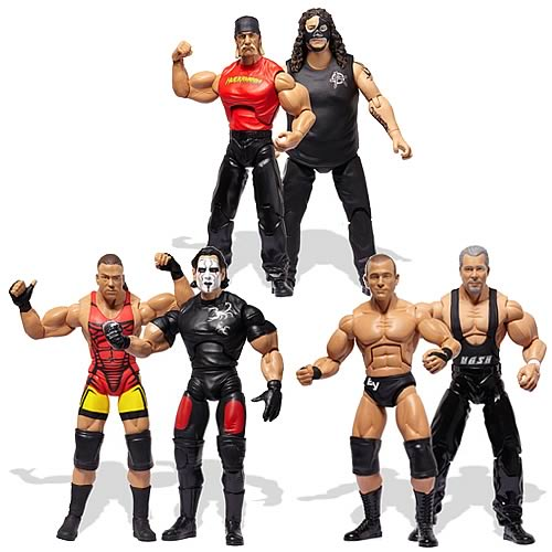 TNA Wrestling Cross the Line Figure 2-Packs Wave 4 Set