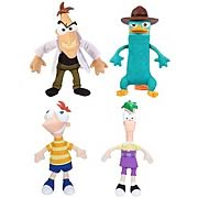 Phineas and Ferb Gabble Heads Plush Wave 2 Set