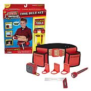 Real Construction Tool Belt Set with Accessories