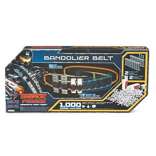 Max Force 1000 Rounds Refill Kit with Bandolier Belt