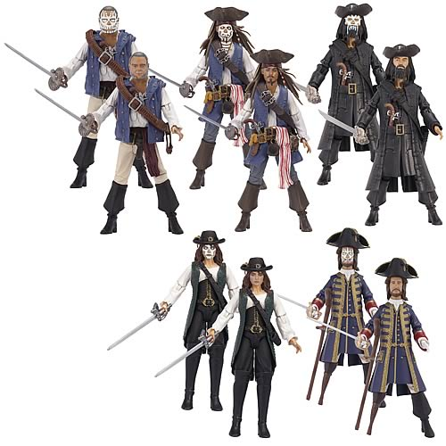 POTC On Stranger Tides Basic Figures Wave 1 Case