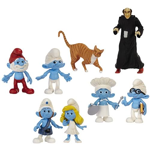 Smurfs Movie Basic Figure 2-Packs Wave 1 Case