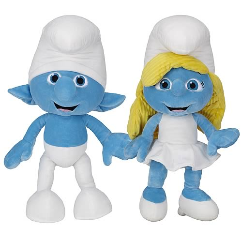 Smurfs Movie Jumbo Plush Wave 1 Set