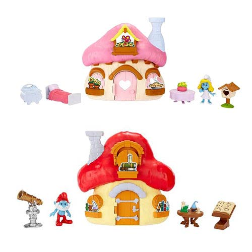 Smurfs 2 Mushroom House Wave 1 Playset Case