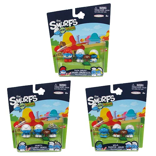 Smurfs 2 Wave 2 Mini-Figure 3-Pack Case
