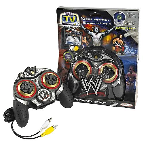 Tv Games Plug And Play : Wwe plug play in tv game jakks pacific sports