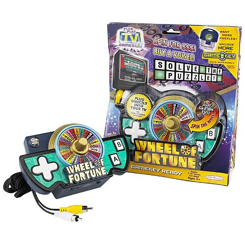 Tv Games Plug And Play : Wheel of fortune plug play tv game jakks pacific