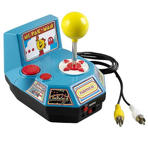 Tv Games Plug And Play : Namco ms pac man plug play in tv game jakks