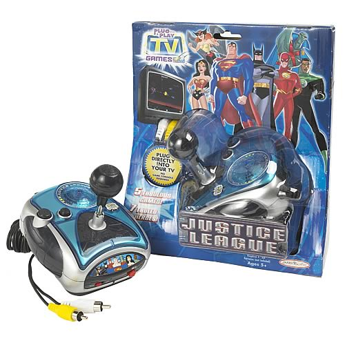 Tv Games Plug Into : Justice league plug play in tv game jakks pacific
