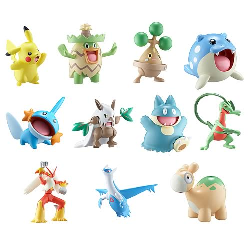 Pokemon Battle Frontier Wave 1 3-Pack Figure Case