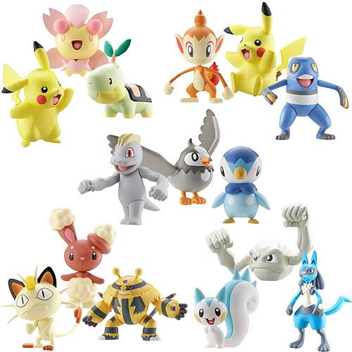 Pokemon Diamond & Pearl Wave 1 3-Pack Figure Case