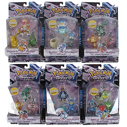 Pokemon Diamond & Pearl Wave 4 3-Pack Figure Case