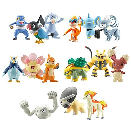 Pokemon Diamond & Pearl Wave 6 3-Pack Figure Case