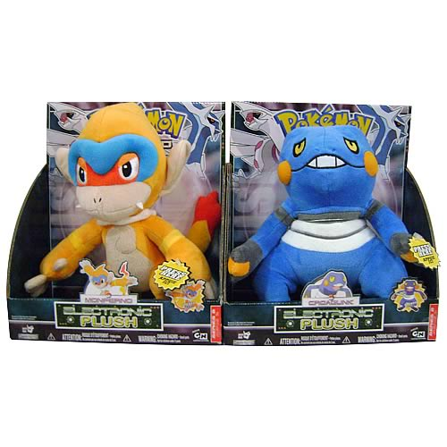 Pokemon Large Plush with Sound Wave 2 Set