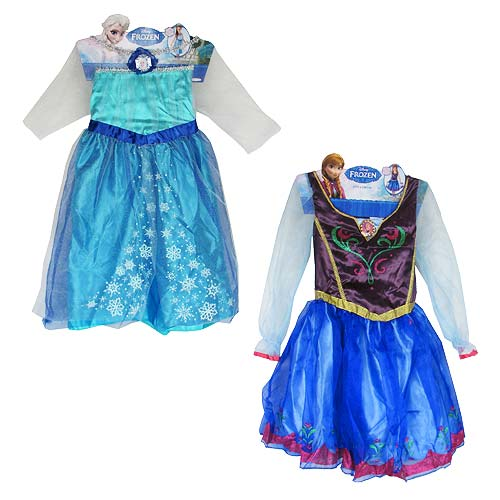 Frozen Elsa and Anna Girls Roleplay Costume Dress Set