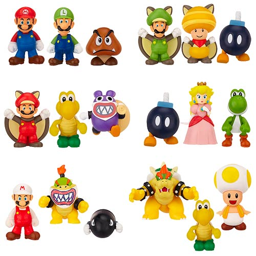 New Mario Bros. U Wave 1 Micro-Figure 3-Pack Case