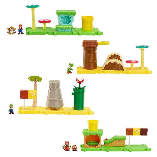 New Mario Bros. U Wave 1 Micro Land Diorama 3-Pack Set
