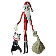 Action Figures > Nightmare Before Christmas - Get in the holiday spirit!  Jack Skellington in a jolly old St. Nick!  Add to your collection!  This 7-inch scale action figure features Jack Skellington in a Santa Claus suit.  The PVC action figure coes with a display stand, present bag, Vampire teddy, and is packaged in a blister card.: Sizes