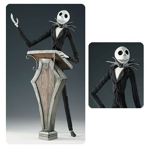 Nightmare Before Christmas Jack and Speech Podium Figure