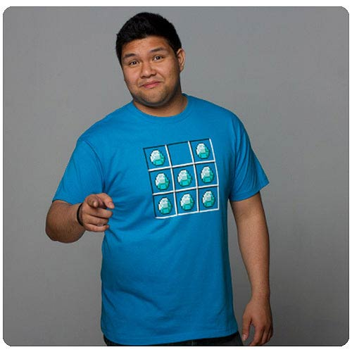 Minecraft Diamond Crafting Blue T-Shirt