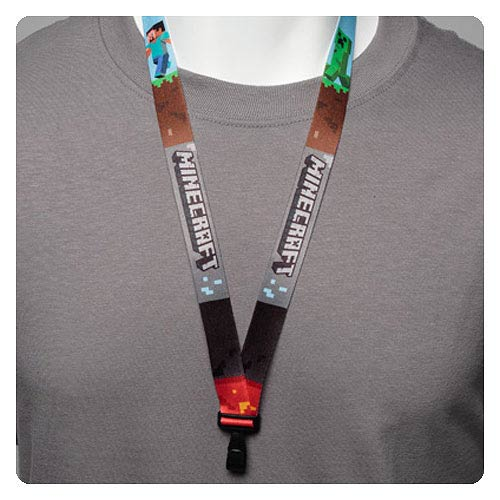 Minecraft Lanyard Key Chain