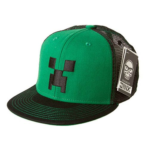 Minecraft Creeper Face Premium Green Hat