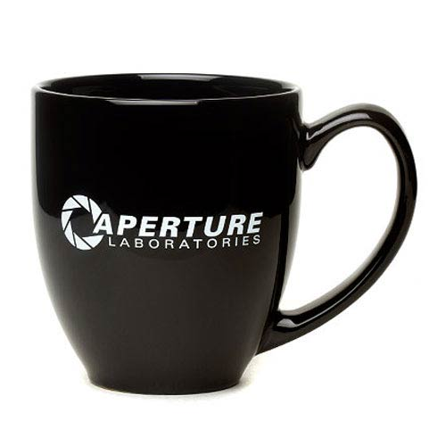 Portal 2 Aperture Laboratories Black Mug