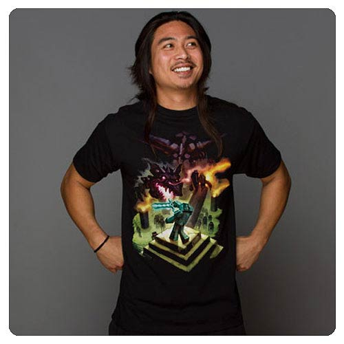 Minecraft Enderdragon Black T-Shirt