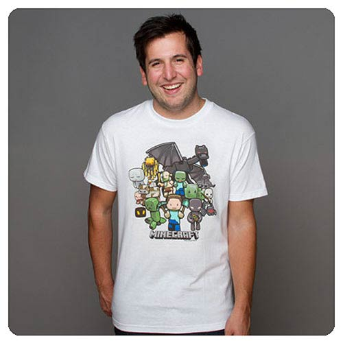 Minecraft Party White T-Shirt