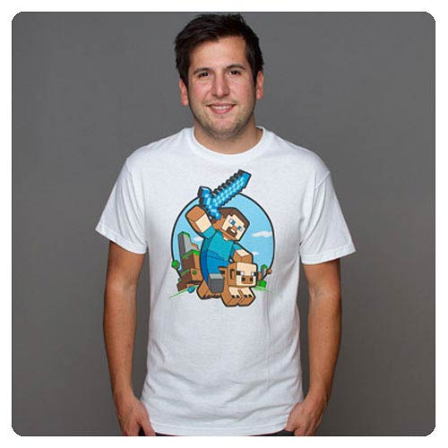 Minecraft Pig Riding White T-Shirt