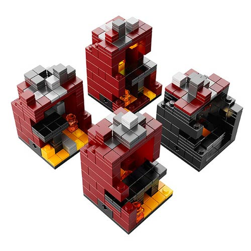 LEGO Minecraft Microworld The Nether Construction Set