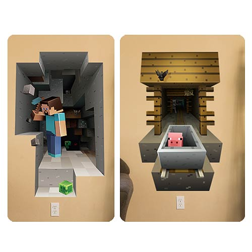 Minecraft Mining and Mineshaft Wall Clings Decal Set