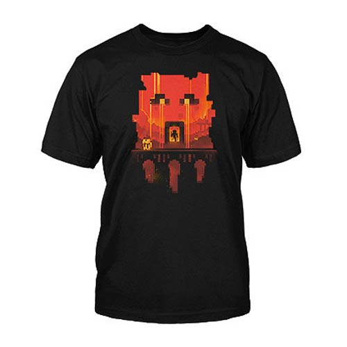 Minecraft Glimpse Black Basic T-Shirt