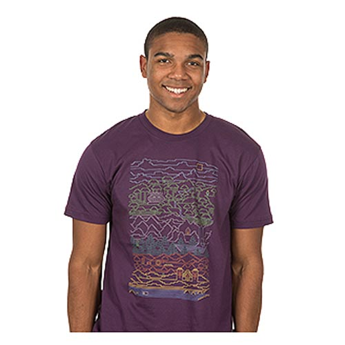 Minecraft Line Time Purple Premium T-Shirt