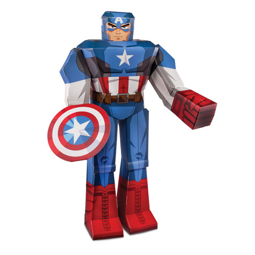 Captain America 12-Inch Marvel Blueprints Papercraft