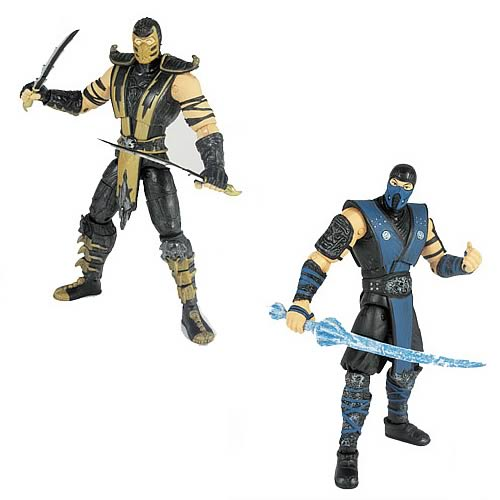 Mortal Kombat 9 6-Inch Scorpion and Sub-Zero Action Figures