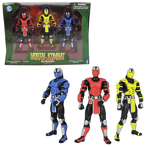 Mortal Kombat 2 4-Inch Classic Robot Action Figure Set