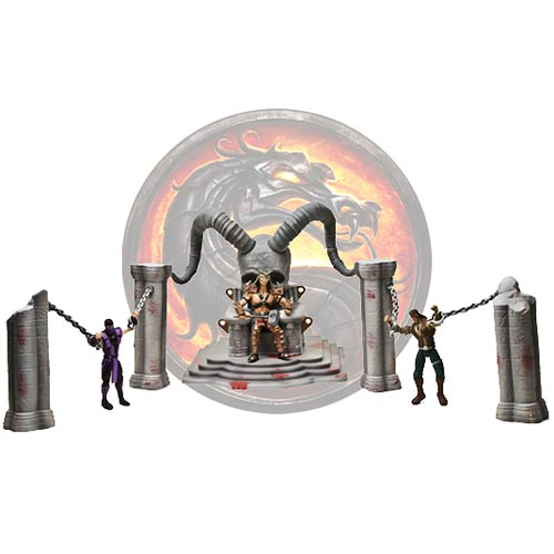 Mortal Kombat Shao Kahn Throne and Arena Playset with Figure