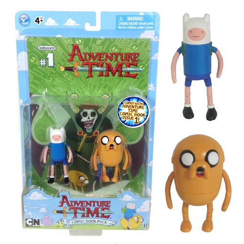 Adventure Time 3-Inch Finn and Jake Comic Book Pack