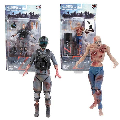 World War Z 6-Inch Zombie Action Figure Set