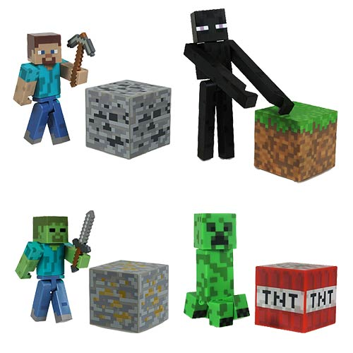 Minecraft 3-Inch Scale Core Character Action Figure Case