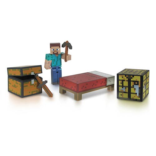 Minecraft Core Player Steve Action Figure Survival Pack
