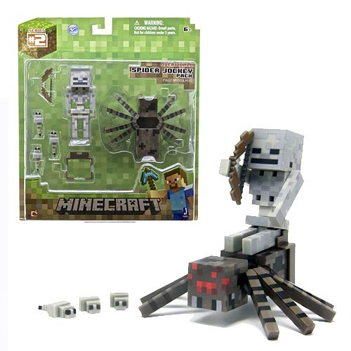 Minecraft Population Spider Jockey Action Figure Set